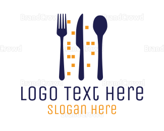 Dine - City Meal logo design