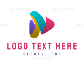 Video Player - Colorful Media Player logo design