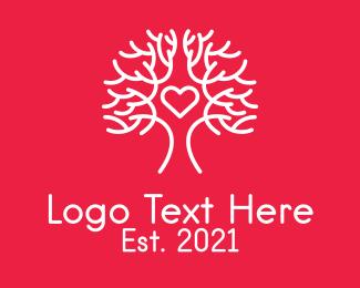 Childcare - White Love Tree logo design