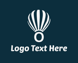 Hot Air Balloon - Floating Letter O logo design