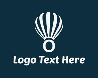 Hot Air Balloon - Floating Letter O logo design