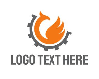 Cogwheel - Phoenix Gear logo design