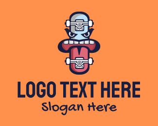 Sport - Skateboarding Cartoon Mascot  logo design