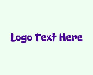 Funny - Purple Crayon logo design