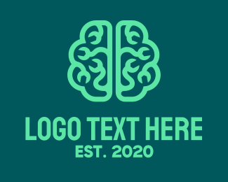 Mental Health - Brain Repair logo design
