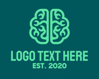 Psychotherapy - Brain Repair logo design