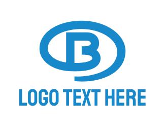 Oval - Blue Oval B logo design