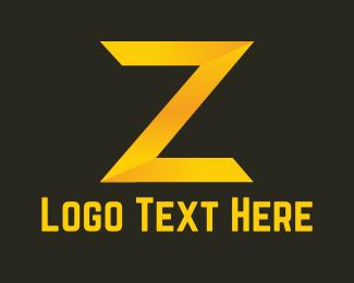 Letter Z - Golden Letter Z logo design