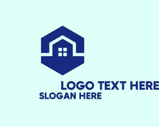 """""""Blue Hexagon House"""" by royallogo"""