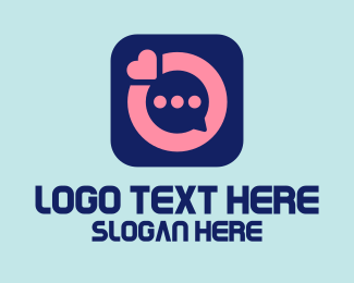 Dating App - Online Dating Message App  logo design