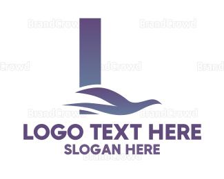 Letter L - Blue Dove Letter L logo design