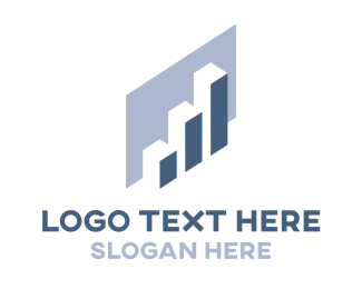 Graph - Blue Chart logo design