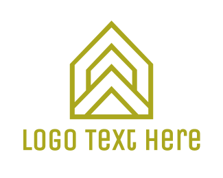 Triangle - Yellow Triangle House logo design