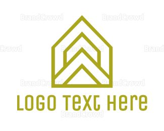 Architect - Yellow Triangle House logo design