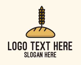 Baking Equipment - Wheat French Bread logo design