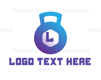 Buff - Gradient Kettle Bell  logo design