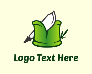 Bamboo - Knife & Bamboo logo design