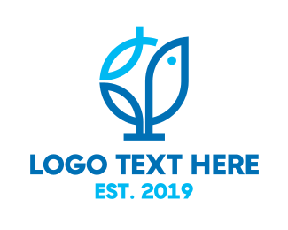 Herb - Modern Sprout Outline logo design