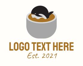 Coffee - Whale Cafe Coffee logo design