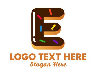 Bakeshop - Donut Bakeshop Letter E logo design