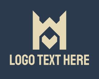 M - Letter M Gamer Tower logo design