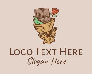 Food - Valentine Chocolate Flower Bouquet logo design