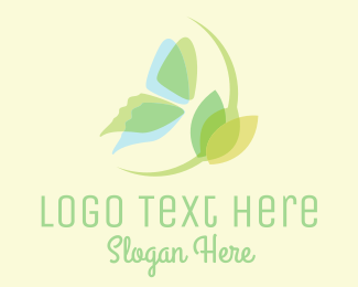 Fairy - Butterfly Flower Translucent logo design