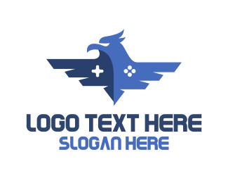 Blue Hawk - Blue Eagle Gaming logo design