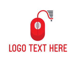 Cart - Red Mouse logo design
