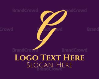 Letter G - White Letter G logo design