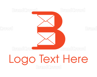 Text Message - Orange B Mail logo design