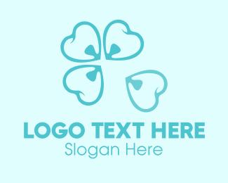 Teeth - Blue Dental Flower Teeth logo design