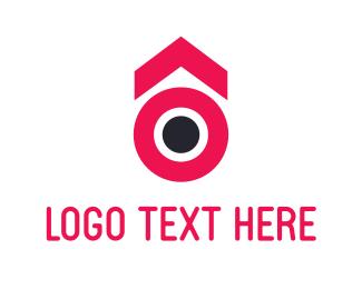 Pink Circle Arrow Logo