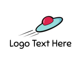 Spaceship - Fast Spacecraft logo design