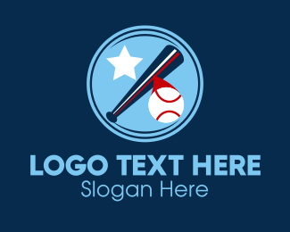 Softball Tournament - Baseball Batter Hit logo design