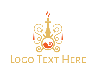 Dubai - Luxurious Hookah logo design