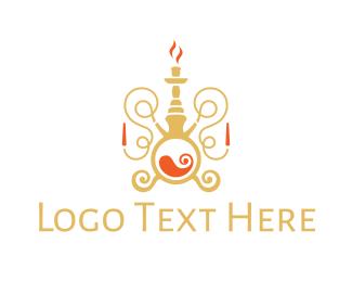 Middle East - Luxurious Hookah logo design