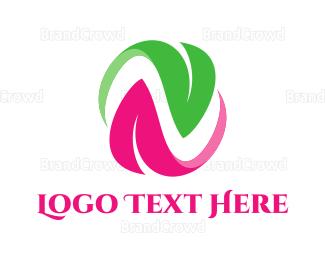 Organic - Organic Letter N logo design