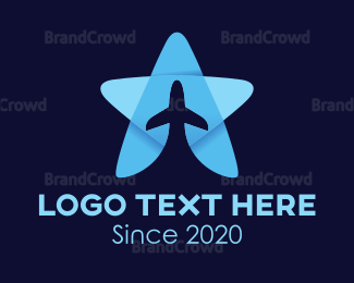 Flyer - Star Plane logo design