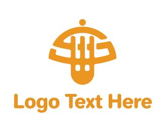 Cater - Fork Food logo design