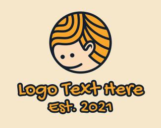 Smile - Smiling Boy Mascot logo design