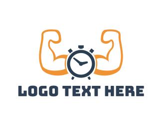 Exercise - Muscle Alarm logo design