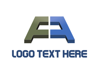 Reflection - Abstract Letter A logo design