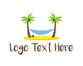 Tan - Beach Hammock logo design