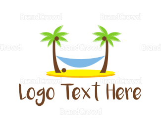 Cuba - Beach Hammock logo design