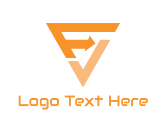Trucking Company - F & V logo design