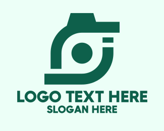 Photoshoot - Abstract Green Camera logo design