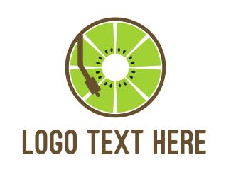 Kiwi - DJ Kiwi logo design