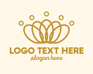 Beauty Pageant - Elegant Ring Crown logo design