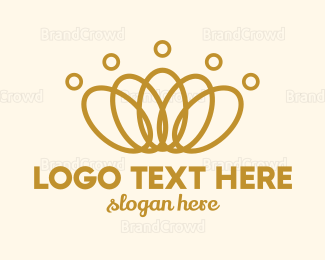 Earrings - Elegant Ring Crown logo design